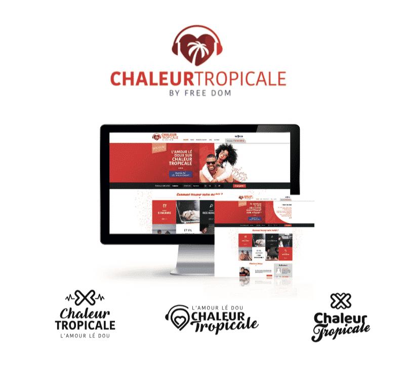 Identité Chaleur Tropicale (Création du logo et webdesign pour Chaleur Tropicale (en collaboration avec NA Communication et Sarah Patel - Freedom).