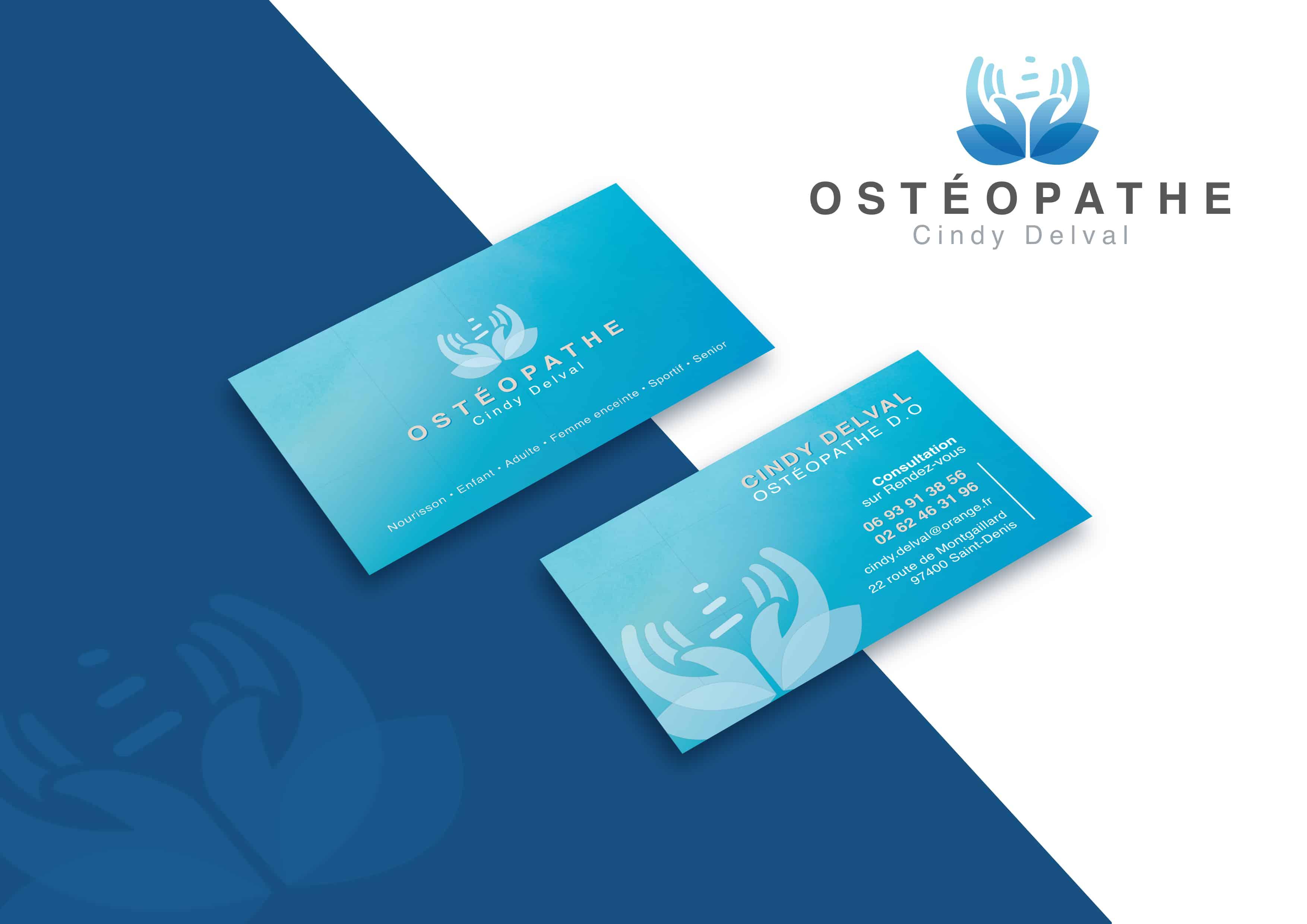 Logo et carte de visite osteopathe